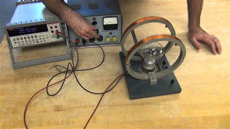 Using a Helmholtz coil and a compass - YouTube
