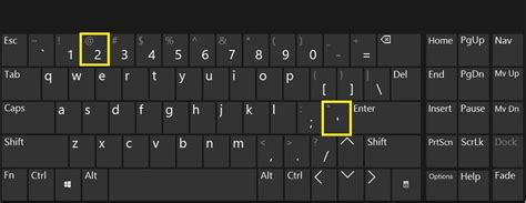 """Fix: """" and @ have swapped in Windows 10"""
