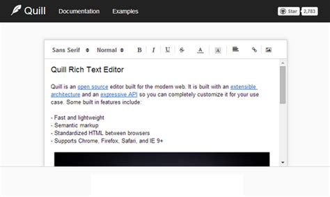 Quill: Open Source Rich Text Editor with API | Web