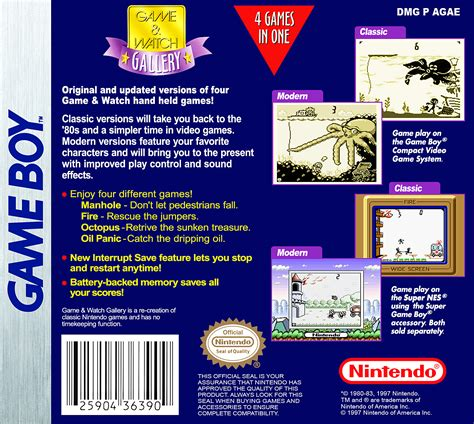 Game & Watch Gallery Details - LaunchBox Games Database