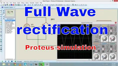 Full wave rectification using proteus Tutorial #4 - YouTube