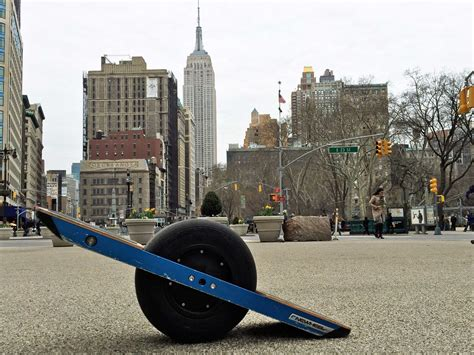 I rode the one-wheeled skateboard of the future around New