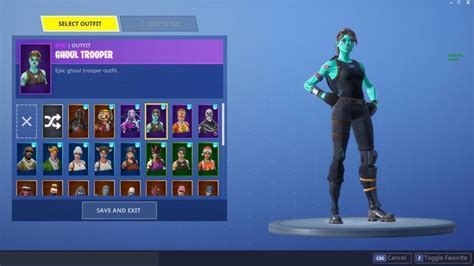 Fortnite Account with Renegade Raider, Ghoul Trooper,and