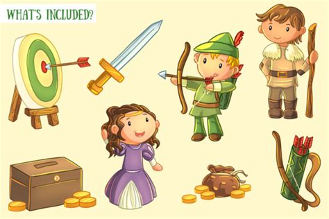 Robin Hood Story Book Clip Art (Graphic) by