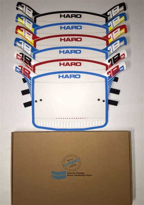 Haro 1B Number Plate Retro BMX in Cool Colors for your