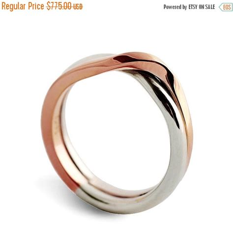 Black Friday SALE - LOVE KNOT White And Rose Gold Wedding