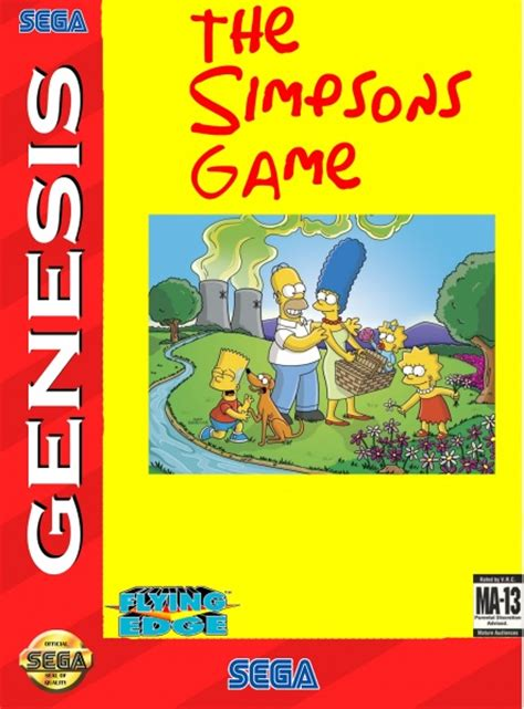 The Simpsons Game Genesis Box Art Cover by fetcher