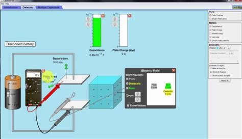 PHET Simulation: The Capacitor and Its Dielectric - YouTube