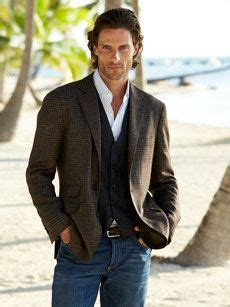 Men - sports coat, sweater vest, white shirt, and jeans