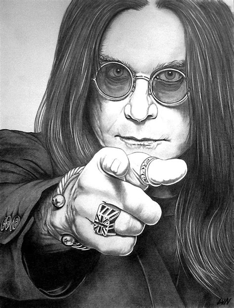Ozzy Osbourne, pencil drawing on A3 size paper