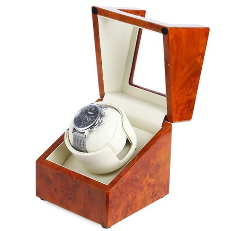 6 color New Luxury Rotary Automatic Rotating Wooden Watch